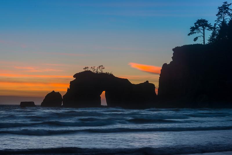 Hole In The Wall Silhouettes - Olympic Peninsula, Washington