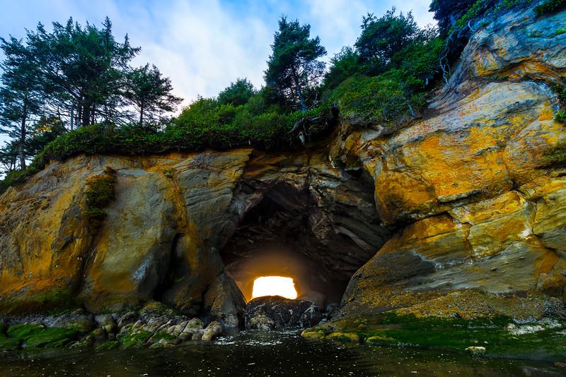 Opening Of Sea Cave - Olympic Peninsula, Washington