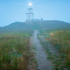 Cattle Point Lighthouse In Early Morning Fog
