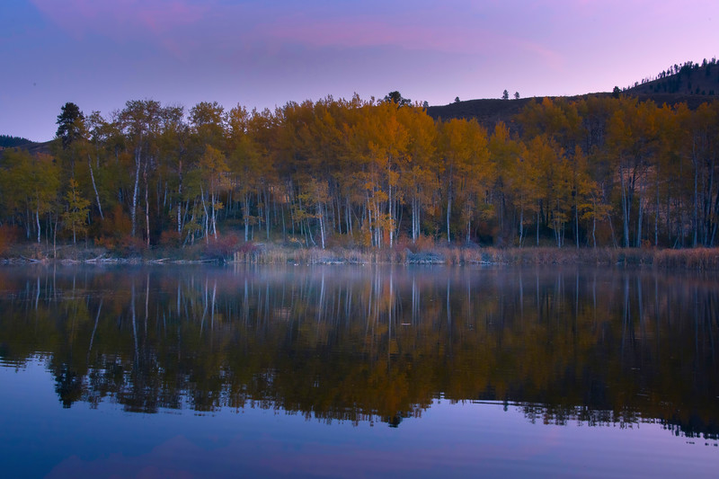 Morning Twilight At Pearrygin Lake State Park - Methow Valley, Washington State