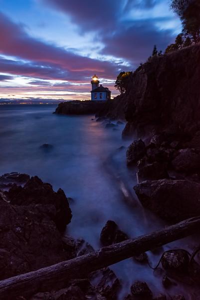 Late Night Cove - Lime Kiln Lighthouse, San Juan Islands, WA