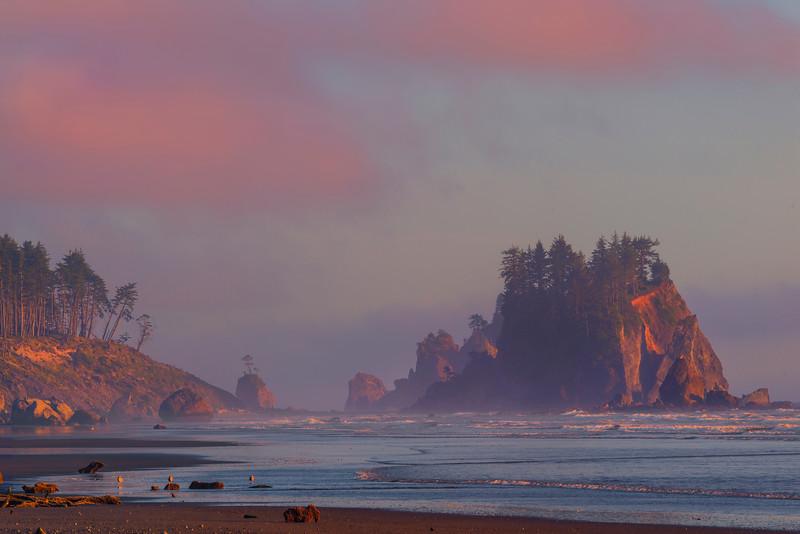 Looking Down Coast Under Twilight - Olympic Peninsula, Washington