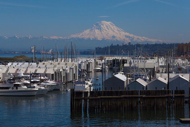 Overlooking The Marina With Mount Rainier - Vashon Island ,WA