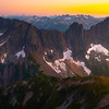 Sun On The Horizon Shining Into The Cascades