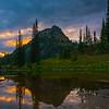 Tipsoo Late Blue Hour Reflections - Mt Rainier National Park, WA