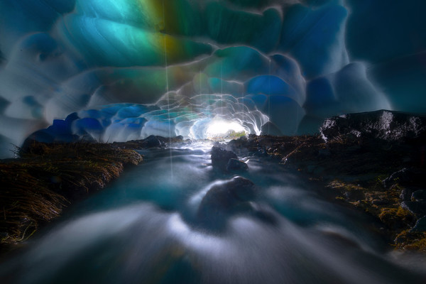 Looking Into The Opening Of The Ice Caves