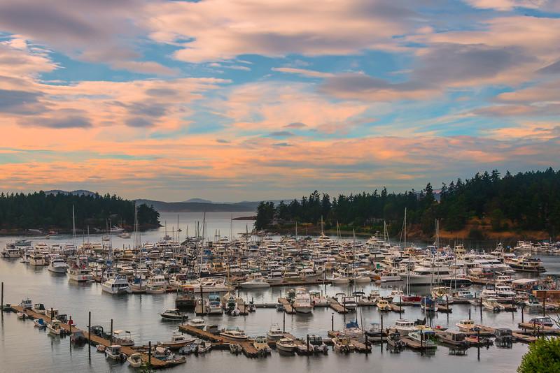 Roche Harbor Sunset - Friday Harbor, Roche Harbor, San Juan Islands, WA