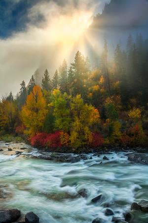 A Magical Moment Of Elements - Leavenworth, Central Washington, WA