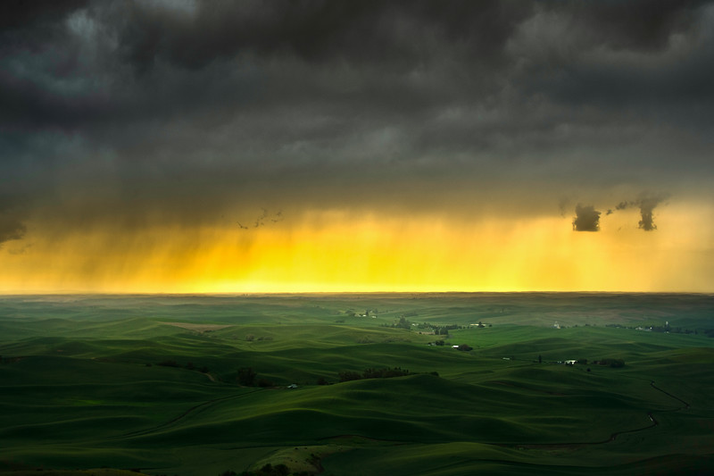 Storm Clouds On Palouse Horizon - The Palouse Region, Washington