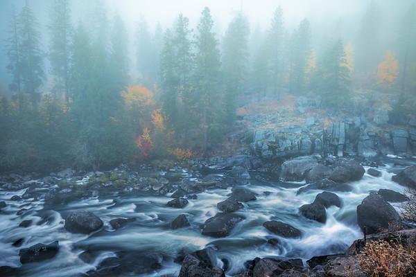 The Mood Of A Foogy Autumn Morning\ - Leavenworth, Central Washington, WA