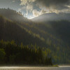 Stunning Light On The Surrounding Mountains Around Lake Wenatchee - Lake Wenatchee State Park, Leavenworth, WA