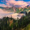 Sunrise Clouds Among The Peaks - - Hurricane Ridge, Olympic National Park, WA