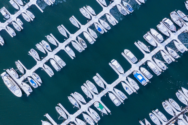Looking Straight Down At The Olympia Marina