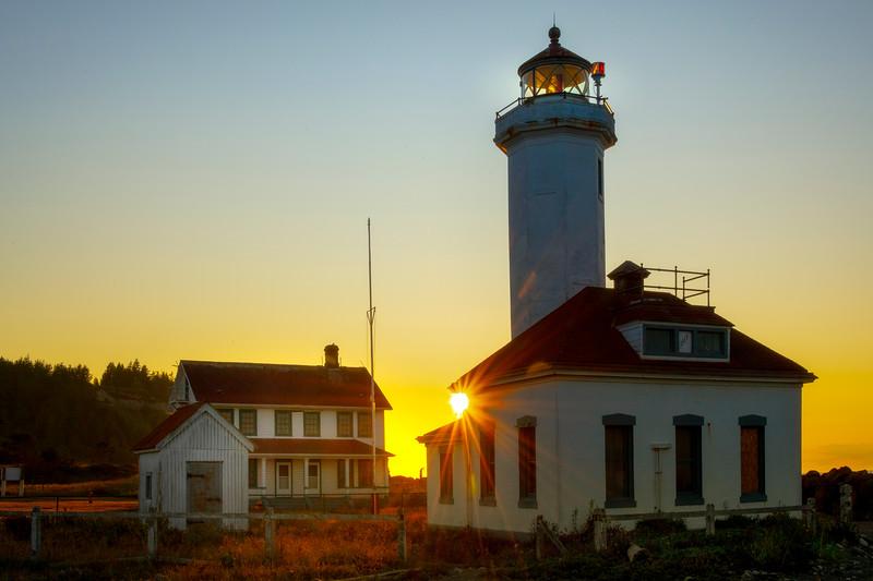 Sunstar Between Point Wilson Lighthouse