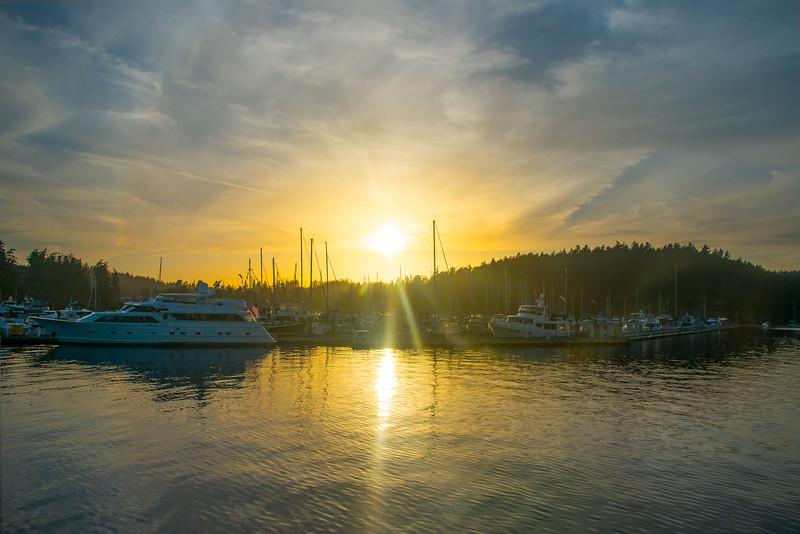 Coming Into Bay At Sunset - Friday Harbor, San Juan Islands, WA