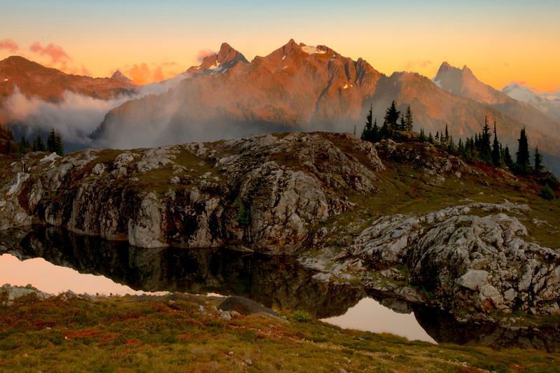 Cascade Range As Twilight Approaches - North Cascades National Park, WA