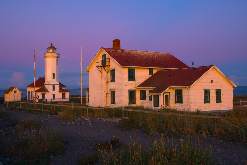 Point Wilson Lighthouse With The Venus Belt