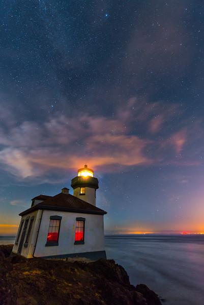 Leave A Light On - Lime Kiln Lighthouse - Friday Harbor, San Juan Islands, WA