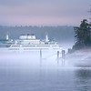 Washington Ferry Coming Into Friday Harbor