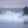 Washington Ferry Coming Into Friday Harbor