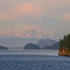 Mount Baker Views From Ferry Crossing Among The San Juan Islands, WA
