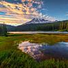 Pools Of Hearts And Mount Rainier_1 - Mt Rainier National Park, WA