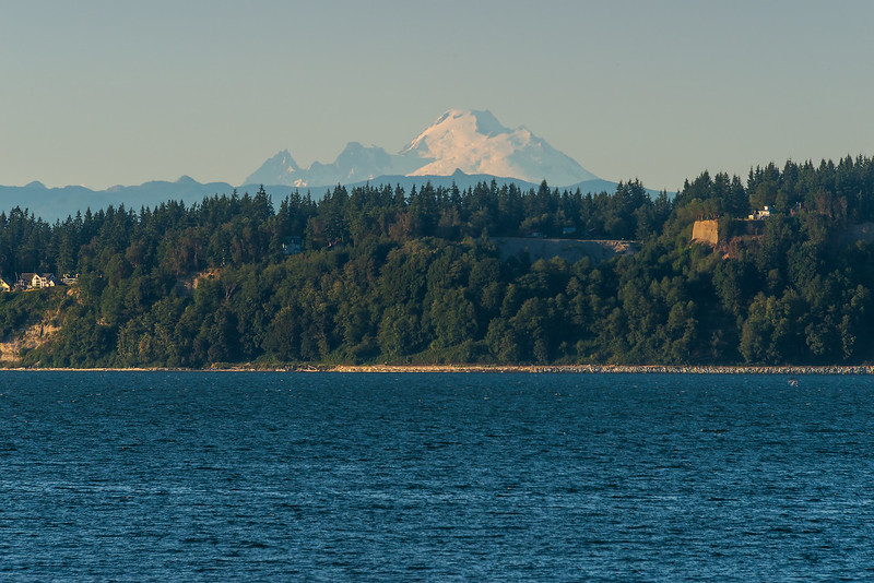Mt Baker Sighting - Images from ferry crossing from Whidbey Island to Mukilteo
