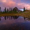 Reflection In Pond At Tarn Pinnacle Peak Trail, Plummer Peak, Mt Rainier National Park, WA