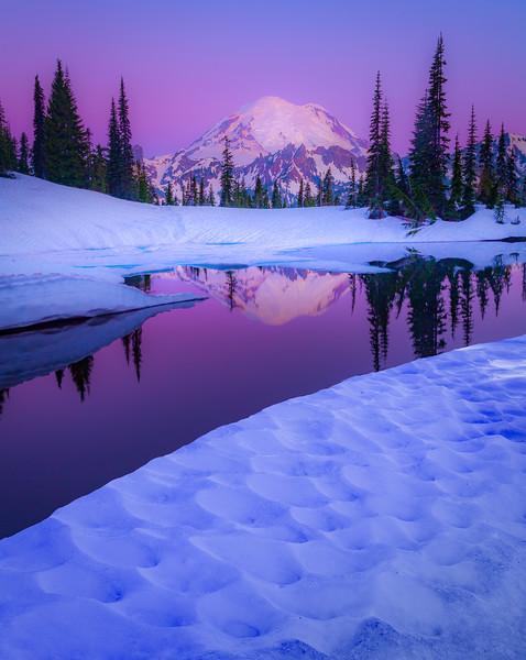 Tipsoo Lake Under Purple Twilight