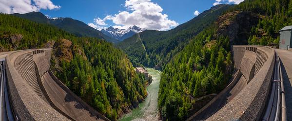 The Ross Dam Bridge Lookou - Ross Dam Bridge, - Diablo Lake Viewpoint, North Cascades National Park, WA