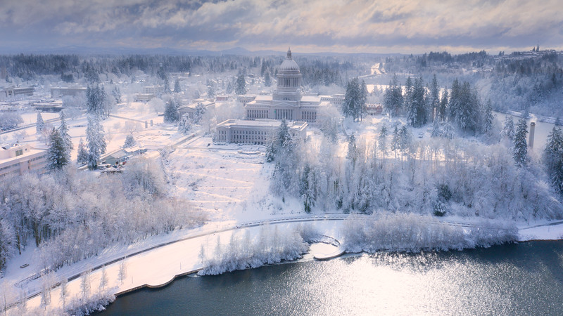 Above The Winterlands Of The Capital