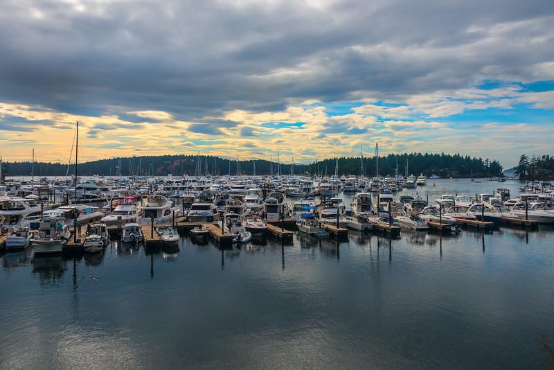 Summer Sunsets On Roche Harbor - Roche Harbor, San Juan Islands, WA