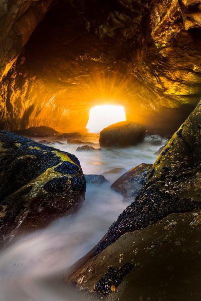 Sea Cave - Olympic Peninsula, Washington