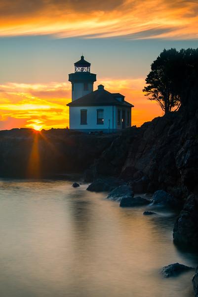 Sunburst Star - Lime Kiln Lighthouse - Friday Harbor, San Juan Islands, WA