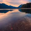 Lake Cushman Warm Reflections - Lake Cushman State Park, Hoodsport, Washington