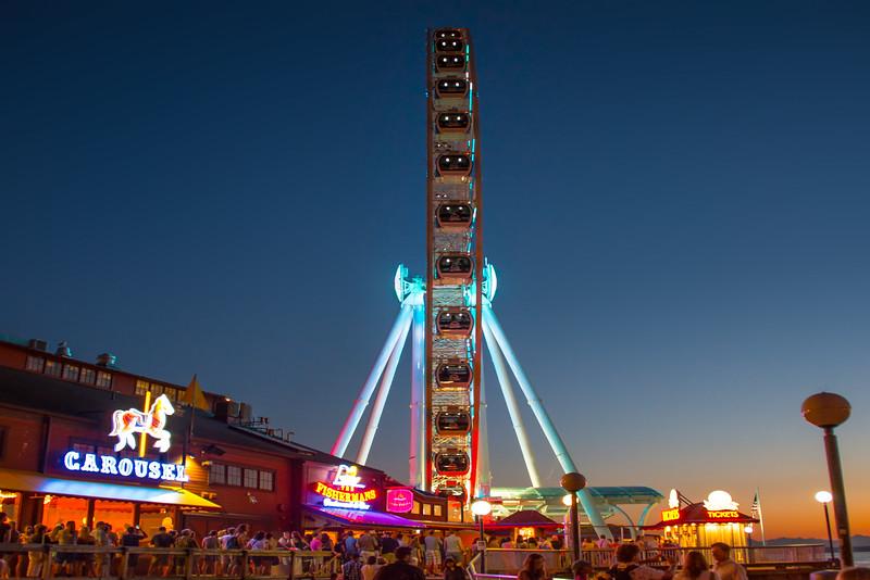 The New Ferris Wheel Of Seattle - Seattle Waterfront - Seattle, WA