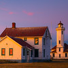 Point Wilson Lighthouse As Sunset Turns To Twilight