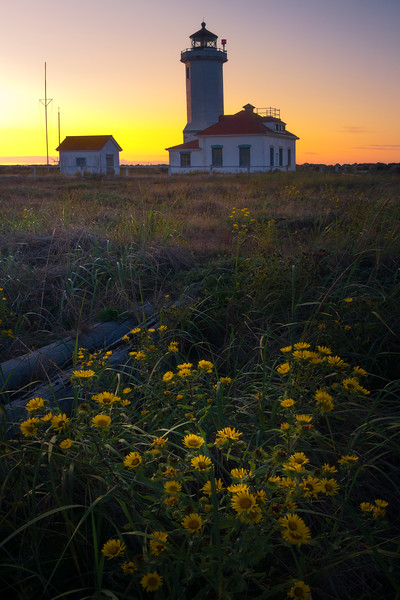 Point Wilson Lighthouse At Sunset