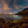 The Bay At Night - Lime Kiln Lighthouse - Friday Harbor, San Juan Islands, WA
