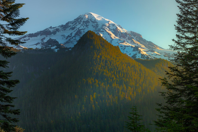 A Framed Mount Rainier