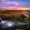 Palouse Falls Pink Sunset - Palouse Falls State Park, Washtuchna, Palouse, WA