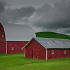 Idyllic Red Barns In Palouse - The Palouse Region, Washington