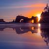 Reflections Of Sunset Color - Olympic Peninsula, Washington