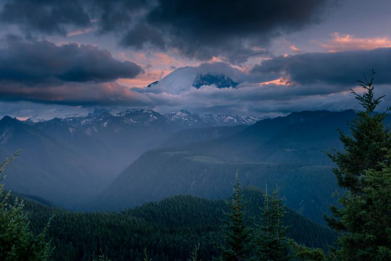 Mt Rainier From Sun Top Lookout - Mount Rainier National Park, WA