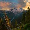 Sunset Clouds On Rainier_EmmonsGlacieR -Sunrise Side, Mount Rainier National Park, Washington