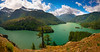 Panoramic View Of Diablo Lake From Viewpoint - Diablo Lake Viewpoint, North Cascades National Park, WA