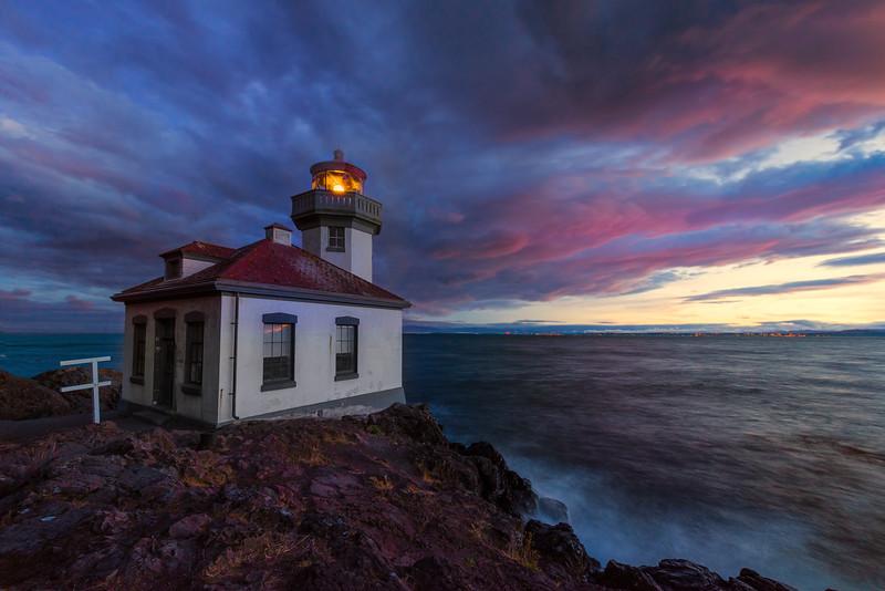 Stormy Skies - Lime Kiln Lighthouse, San Juan Islands, WA