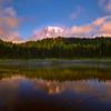 Reflection Lakes And Mt Rainier Mist - Mt Rainier National Park, WA