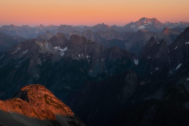 Twilight Over The North Cascades