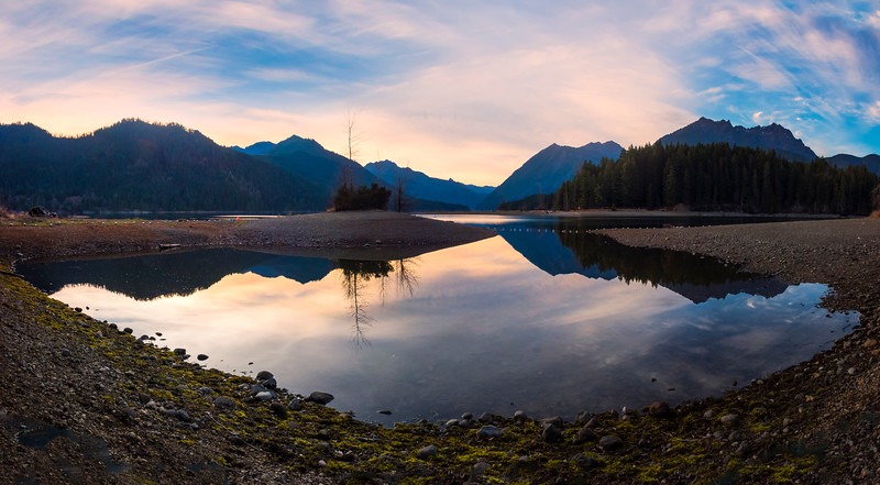 Lake Cushman Panorama - Lake Cushman State Park, Hoodsport, Washington